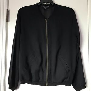 About A Girl Black Sheer Jacket